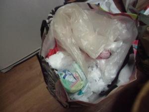 ゴミ袋の整理